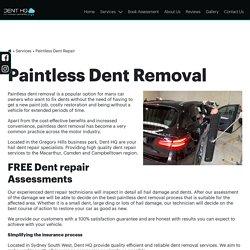Paintless Dent Removal Narellan