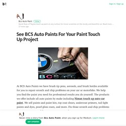 See BCS Auto Paints For Your Paint Touch Up Project