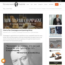 How to Pair Champagne and Sparkling Wines
