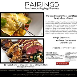 PAIRINGS palate + plate: globally inspired contemporary cooking