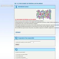 108 - EL PAÍS DONDE SE PERDÍAN LAS PALABRAS