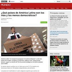¿Qué países de América Latina son los más y los menos democráticos? - BBC Mundo