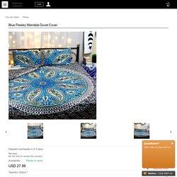 buy Blue Paisley Mandala Duvet Cover