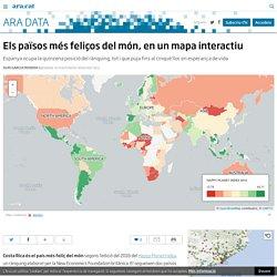 Els països més feliços del món, en un mapa interactiu