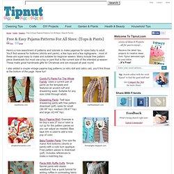 Retro Doll Pajama Bag Pattern