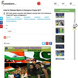 Virat Kohli Runs Against Pakistan in Champions Trophy: Guesskaro