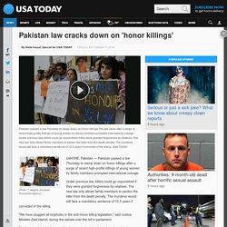 Pakistan law cracks down on 'honor killings'