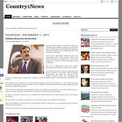 Pakistan Bonn boycott decision