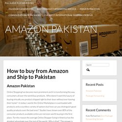 Amazon Shipping to Pakistan