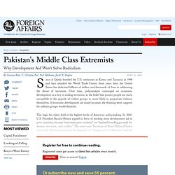 Pakistan's Middle Class Extremists
