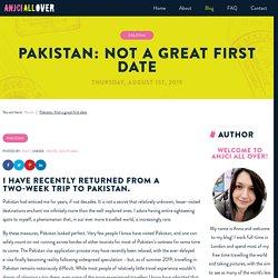 Pakistan: Not a great first date