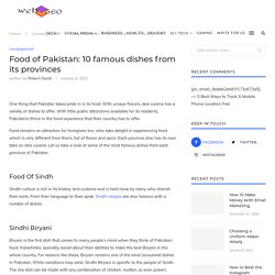 Food of Pakistan: 10 famous dishes from its provinces - Webcube360