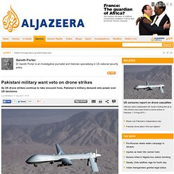 Pakistani military want veto on drone strikes