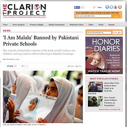 'I Am Malala' Banned by Pakistani Private Schools