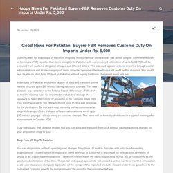 Happy News For Pakistani Buyers-FBR Removes Customs Duty On Imports Under Rs. 5,000