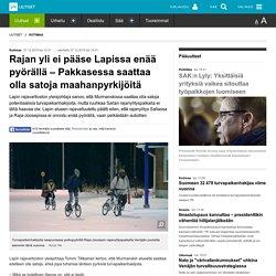Rajan yli ei pääse Lapissa enää pyörällä – Pakkasessa saattaa olla satoja maahanpyrkijöitä
