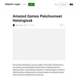 Amazed Games Pakohuoneet Helsingissä