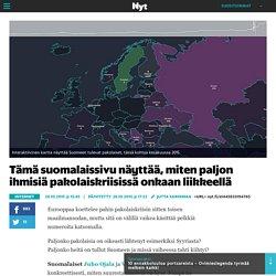 Tämä suomalaissivu näyttää, miten paljon ihmisiä pakolaiskriisissä onkaan liikkeellä