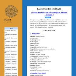 Palabras en nahuatl – Nahuatl