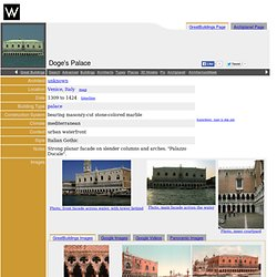 Doge's Palace - Venice, Italy - Great Buildings Online