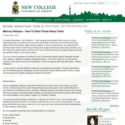 Memory Palaces – How To Pass Those Heavy Tests « New College – University of Toronto