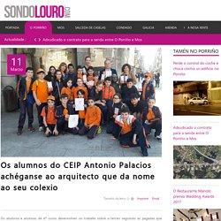 Os alumnos do CEIP Antonio Palacios achéganse ao arquitecto que da nome ao seu colexio