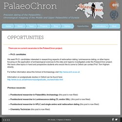 PalaeoChron Project ERC