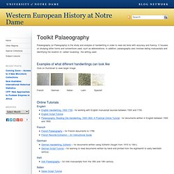 Toolkit Palaeography // Western European History at Notre Dame // Blog Network // University of Notre Dame