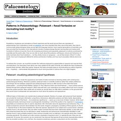 Article: Patterns in Palaeontology > Patterns in Palaeontology: Palaeoart – fossil fantasies or recreating lost reality?