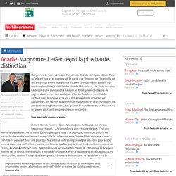 Le Palais - Acadie. Maryvonne Le Gac reçoit la plus haute distinction