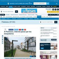 A Palaiseau, Internet passe par les lampadaires