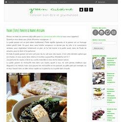 Palak (Tofu) Paneer & Naans