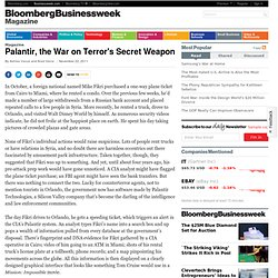 Palantir, the War on Terror's Secret Weapon