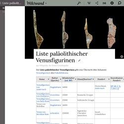 Liste paläolithischer Venusfigurinen - Wikiwand