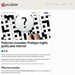 Palavras cruzadas: Pratique inglês grátis pela internet