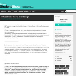 Palazzo Ducale Genova - Brand design on Student Show