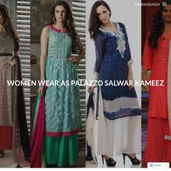 Women Wear as Palazzo Salwar Kameez