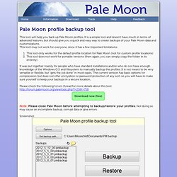 Pale Moon Profile Backup Tool - CometBird