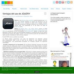 Blog - Ventajas del uso de JQUERY