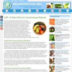 AIP: A Paleo Diet for Autoimmune Patients