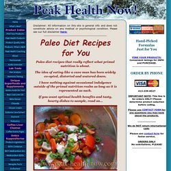 Paleo Diet Recipes for You