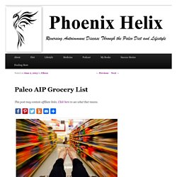 Paleo AIP Grocery List