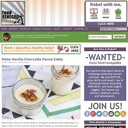 Paleo Panna Cotta: Vanilla Chai Latte
