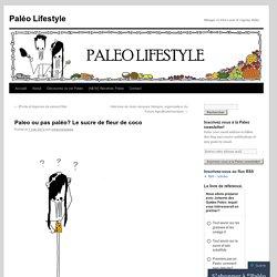 Paleo ou pas paléo? Le sucre de fleur de coco
