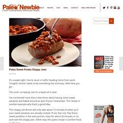 Paleo Sweet Potato Sloppy Joes