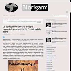 Paléogénomique : Biorigami