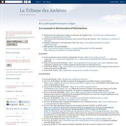 La paléographie française en ligne
