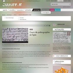 Cours de paléographie en ligne / Articles / Généalogie