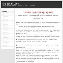Cours de paléographie - Paleography course - Archive du cours d'Arisitum