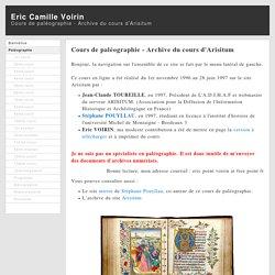 Eric Camille Voirin - Cours de paléographie - Paleography course